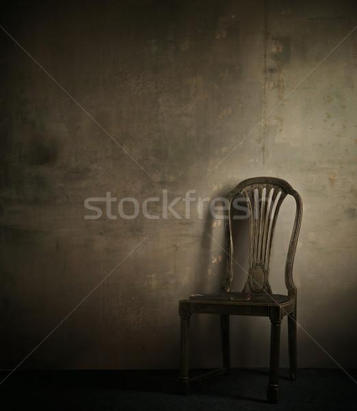 Real Fotografia klasyczny fotel ściany domu Zdjęcia stock © konradbak