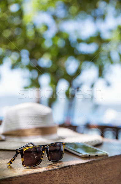 Summer holiday, vacation accessories - tropical area Stock photo © konradbak