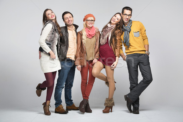 Fashion style picture of friends Stock photo © konradbak