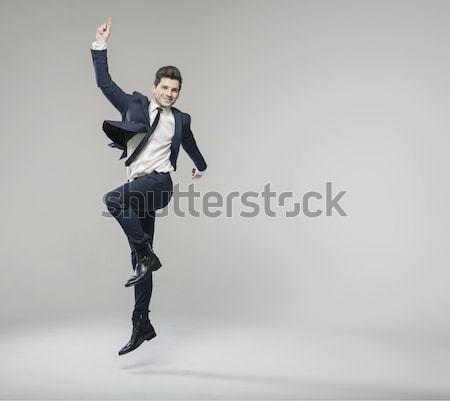 Succesful man enjoying each day Stock photo © konradbak