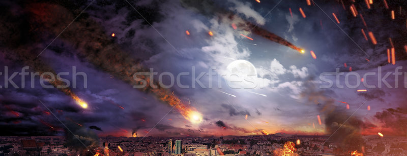 Kép apokalipszis fotó város űr háború Stock fotó © konradbak