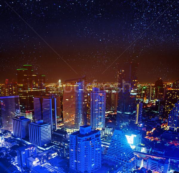 Cityscape Asya şehir bulutlar Bina doğa Stok fotoğraf © konradbak