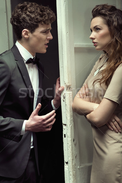 Atractivo Pareja grave argumento negocios Foto stock © konradbak
