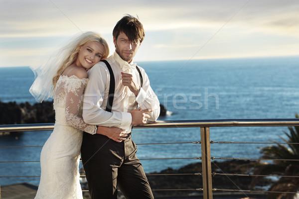 Сток-фото: Cute · молодые · невеста · муж · красивый