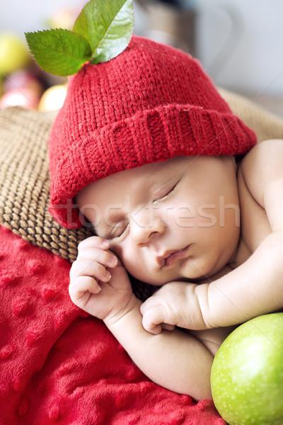 Mały chłopca krótki drzemka cute dziewczyna Zdjęcia stock © konradbak