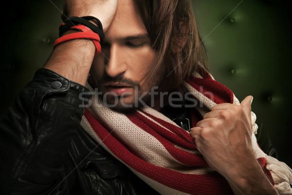 Retrato moço cara homem modelo cabelo Foto stock © konradbak