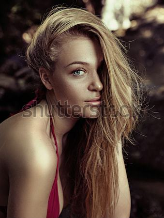 Fashion type photo of a stunning young beauty Stock photo © konradbak