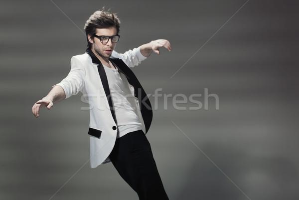 ハンサム 男 着用 ジャケット 小さな タキシード ストックフォト © konradbak
