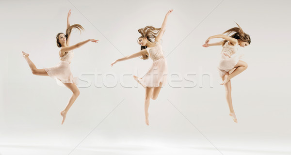 Multiple picture of the ballet dancer Stock photo © konradbak