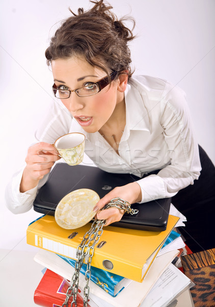 Businesswoman screaming  Stock photo © konradbak