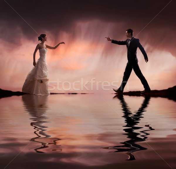 Glamour style wedding photo Stock photo © konradbak