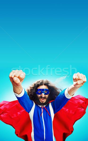 Portré bátor munka üzletember öltöny jókedv Stock fotó © konradbak