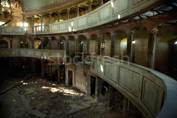 Stok fotoğraf: Eski · tiyatro · fotoğraf · Bina · duvar · ışık