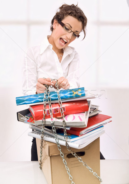 Young overworked secretary  Stock photo © konradbak