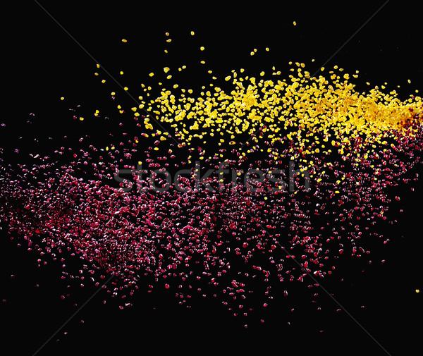 Kleurrijk deeltjes donkere business abstract Stockfoto © konradbak