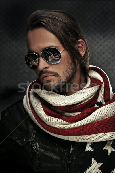 Handsome man wearing sunglasses Stock photo © konradbak