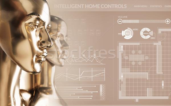 人工知能 スマート ホーム 家 ビジネス お金 ストックフォト © konradbak