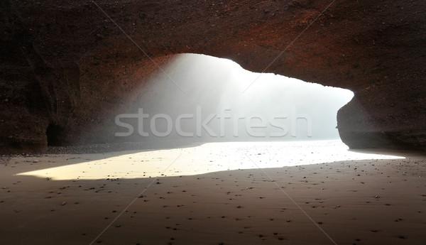 アーチ 岩石層 モロッコ 自然 風景 旅行 ストックフォト © konradbak