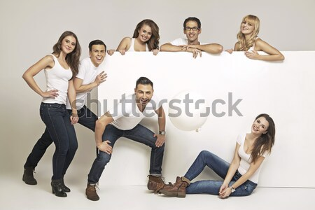 Group of young cheerful women Stock photo © konradbak