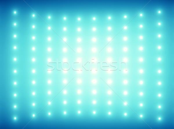 Kék pici villanykörték fény terv narancs Stock fotó © konradbak