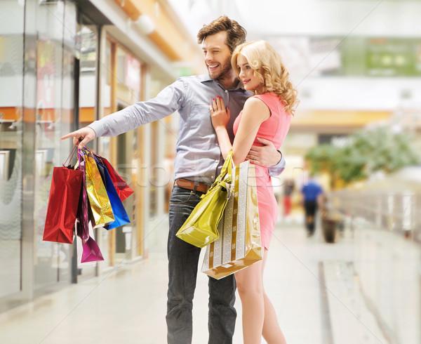 Blij paar naar verkoop vrouw Stockfoto © konradbak