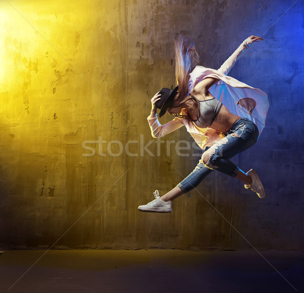 Portrait of a young hip hop dancer Stock photo © konradbak