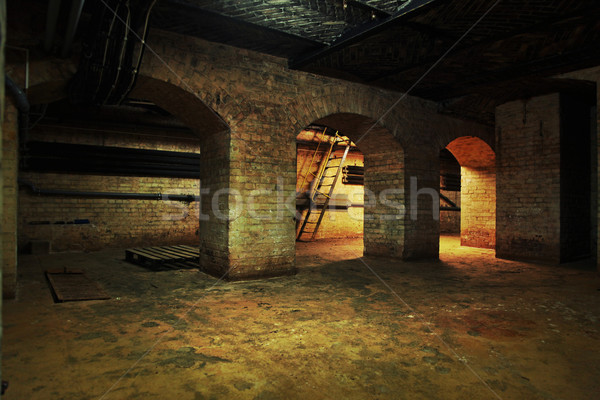 Inside view of the old building Stock photo © konradbak