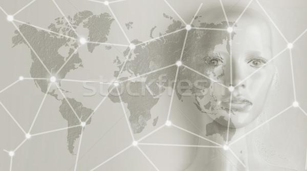 Yapay zeka Internet ağ küreselleşme bilgisayar para Stok fotoğraf © konradbak