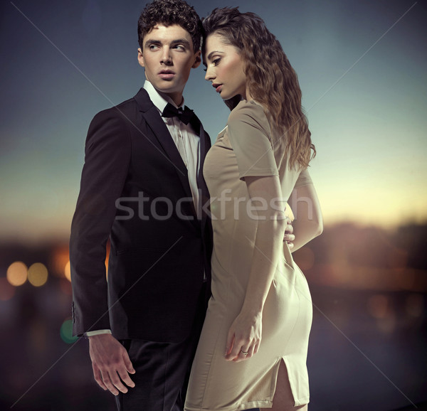 Fantastic photo of stylish great couple Stock photo © konradbak