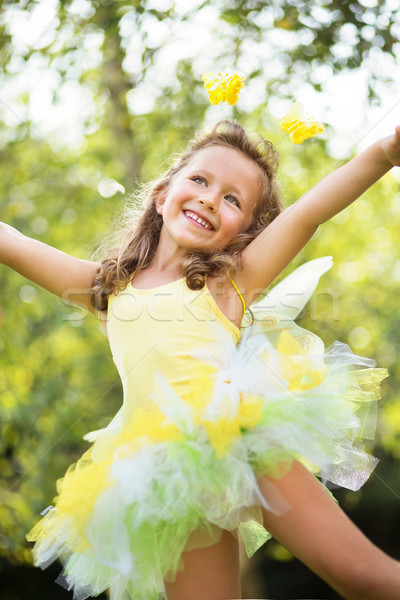 Cute small girl dancing ballet Stock photo © konradbak