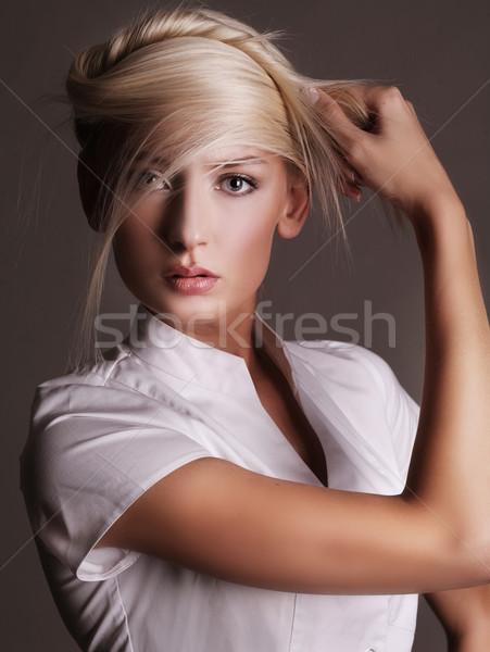 çekici moda stil poz kız Stok fotoğraf © konradbak