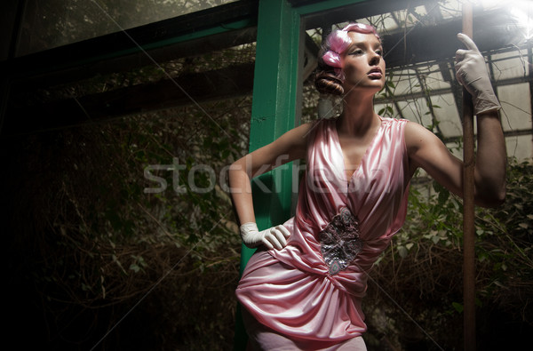 Szépség nő divatos ruha modell portré Stock fotó © konradbak