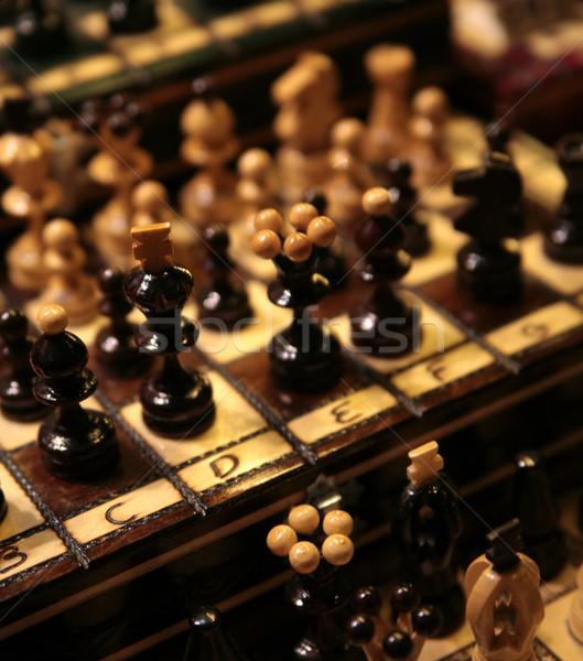 Photo of a lot of chess pieces Stock photo © konradbak