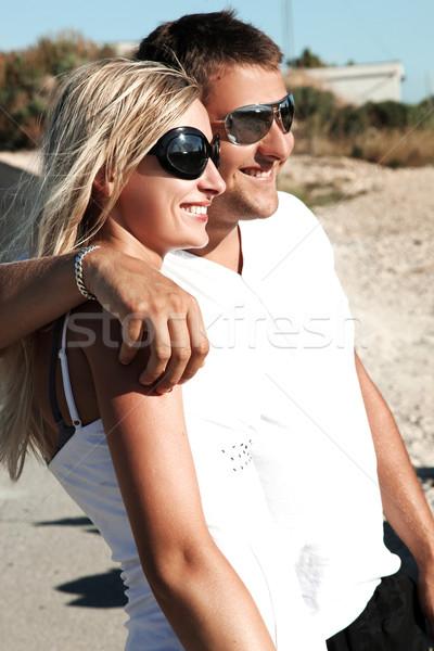 Pár fiatalok szórakozás vakáció nap szeretet Stock fotó © konradbak
