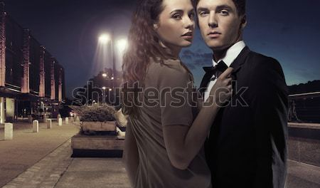 Amazing young couple in romantic pose Stock photo © konradbak