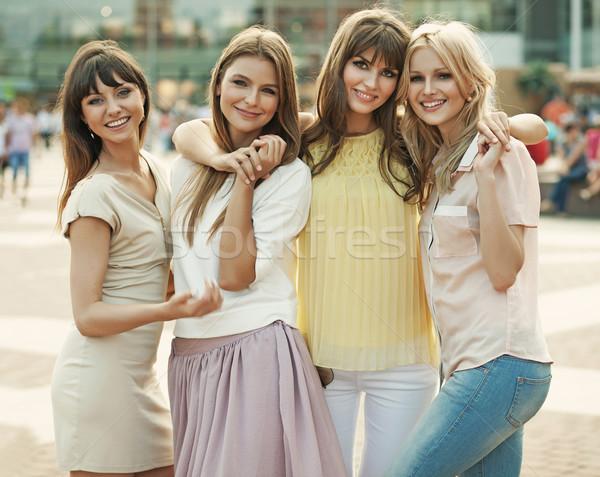 Emlék fantasztikus nyár derűs nők hölgyek Stock fotó © konradbak