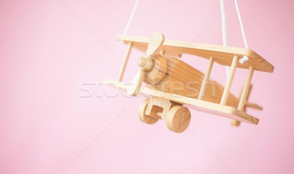 Stok fotoğraf: Resim · ahşap · oyuncak · düzlem · güzel · ahşap · çocuklar