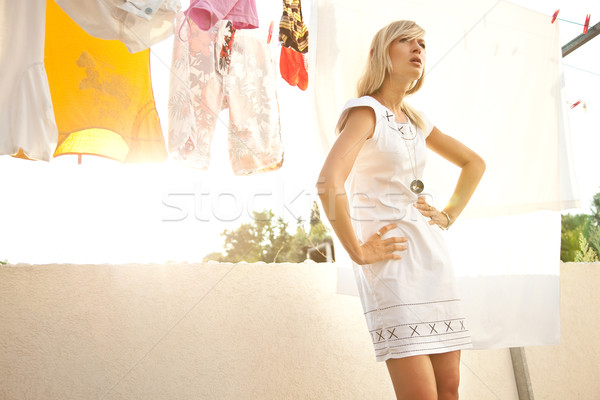 Stock photo: Fashion portrait of a sexy blonde
