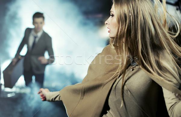 Scene of breaking up of two lovers Stock photo © konradbak