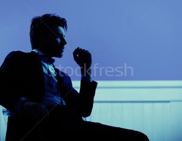 Attrattivo imprenditore stato d'animo banchiere lavoratore Foto d'archivio © konradbak