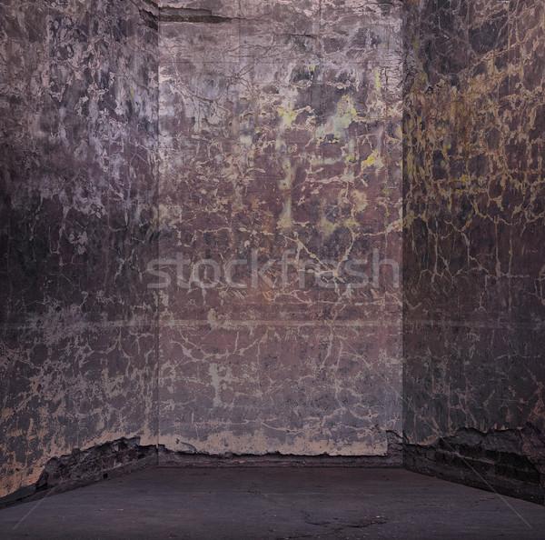 Grunge bağbozumu boş oda duvar boya Metal Stok fotoğraf © konradbak