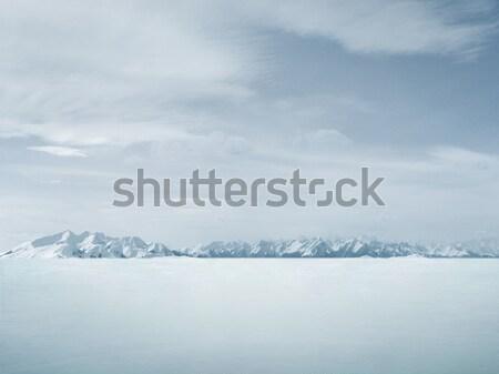 Gyönyörű tél copy space hó háttér hegy Stock fotó © konradbak