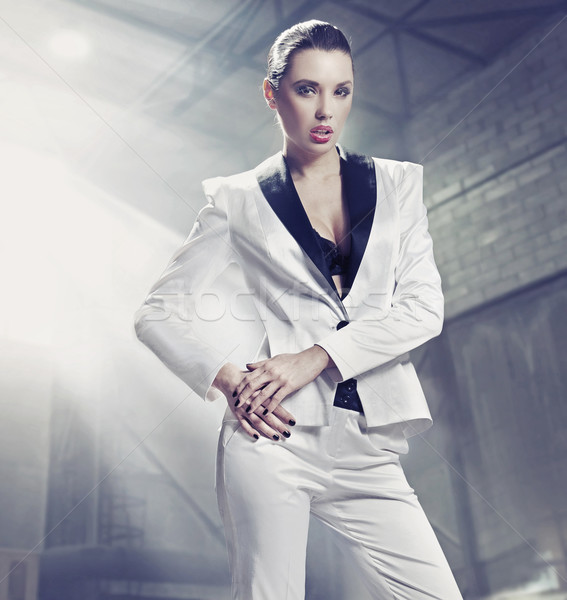 Fine art photo of a confident businesswoman Stock photo © konradbak