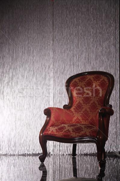 Stockfoto: Foto · klassiek · fauteuil · muur · home · kunst