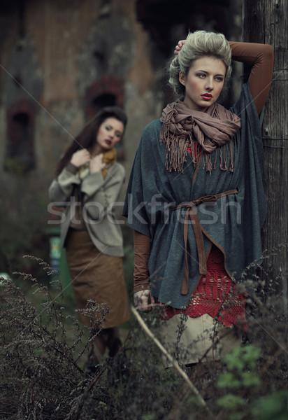 Fine art photo of a beauty ladies Stock photo © konradbak