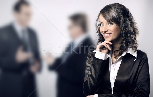 a portrait of a young professional businesswoman  Stock photo © konradbak