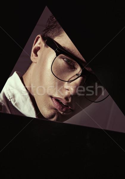 Closeup portrait of an elegant, smart boy Stock photo © konradbak