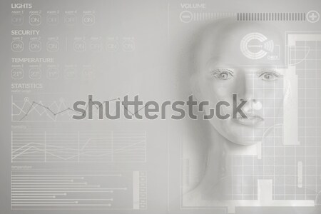 Artificial intelligence concept - smart home Stock photo © konradbak