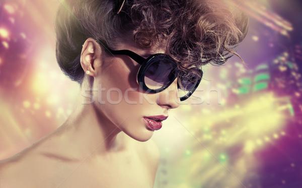 Art picture of woman with stardust Stock photo © konradbak