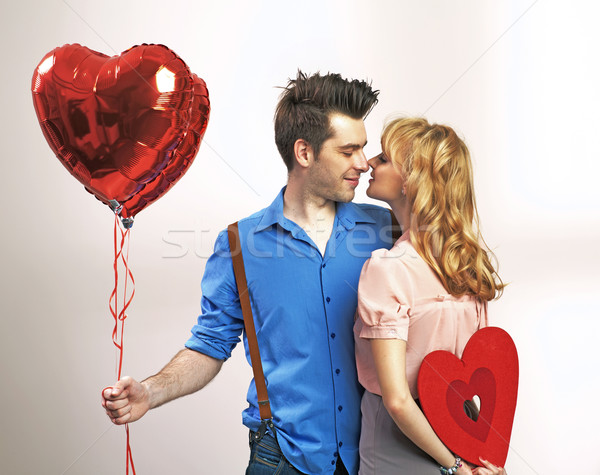 Atrakcyjny walentynki szczęśliwy para miłości Zdjęcia stock © konradbak